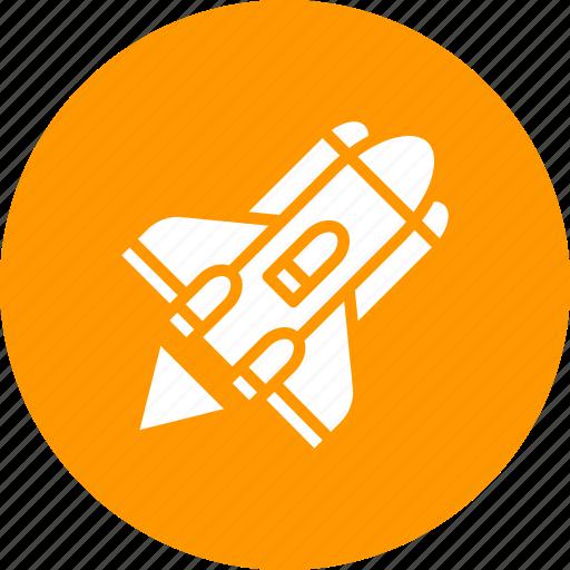 aircraft, ammuntion, launch, nuclear, rocket, spacecraft, war icon