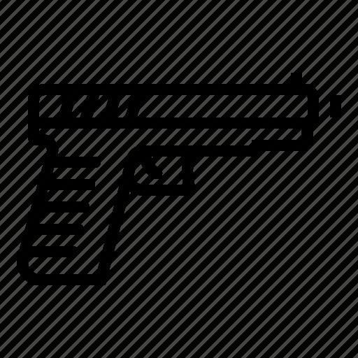 Army, bullet, gun, pistol, police, shoot, war icon - Download on Iconfinder