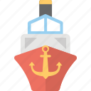 boat, cargo boat, cargo ship, sailing vessel, ship icon