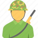 armed soldier, fighter, military soldier, soldier, warrior icon