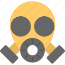 chemical protection, gas mask, military gas mask, military mask, respirator icon