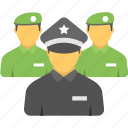 defense department, police, police department, police force, security staff icon