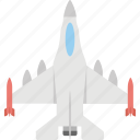 airforce jet, fighter aircraft, fighter jet, military fighter plane, military jet plane icon