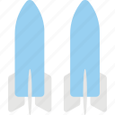 dual space shuttles, space program, space shuttles program, spaceflight, two shuttles on the pad icon