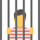 holding cell, jail, jail cell, lock up, prison cell icon