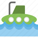 defense vessel, navy, submarine, underwater vehicle, watercraft icon