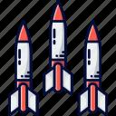 air missile, explosive, rocket, rockets, spacecraft icon