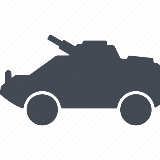 armored car, cross-country vehicle, equipment, military eguipmtnt icon