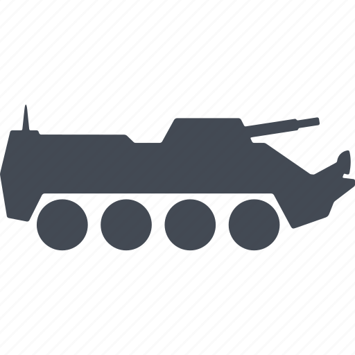 armored car, cross-country vehicle, military eguipmtnt, military machine icon