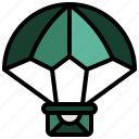 airdrop, and, box, delivery, package, parachute, shipping icon