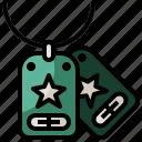 dog, identification, metallic, military, miscellaneous, tag icon