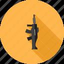 bullet, gun, handgun, pistol, revolver, shot, target icon