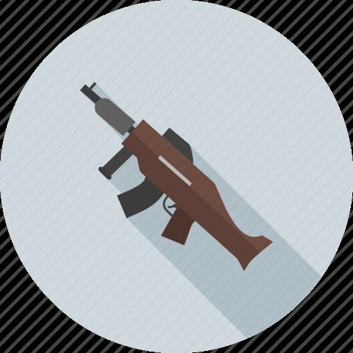army, danger, gun, machine, military, shot, war icon