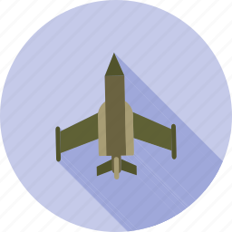 air, airplane, fighter, flight, jet, military, sky icon