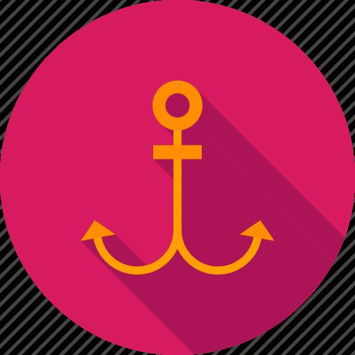 anchor, antique, marine, nautical, sea, ship, sign icon