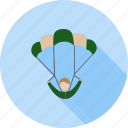 flight, jump, parachute, parachuting, skydive, skydiving, sport icon