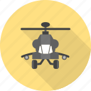 air, army, blades, flight, helicopter, military, sky icon