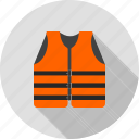 accident, boat, jacket, life, safe, safety, vest icon