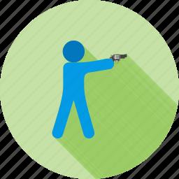 bullet, criminal, gun, hunting, police, shooting, sport icon