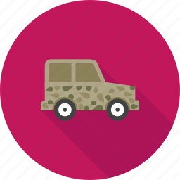 army, car, jeep, military, vehicle, war, world icon