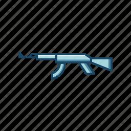 action, ak47, gun, military, rifle, shooting, weapon icon
