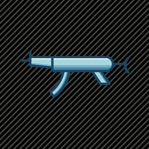 action, gun, machine gun, military, mp5, shooting, weapon icon