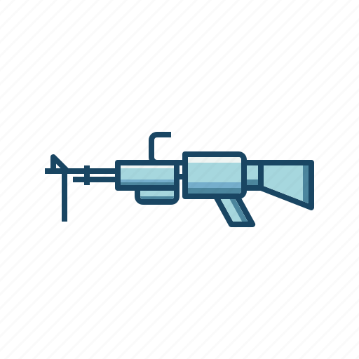 Automatic, firemarms, machine gun, military, shooting, weapon icon - Download on Iconfinder