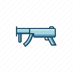 army, automatic, firearms, gun, machine, military, sub icon