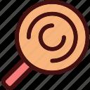 attorney, fingerprint, investigation, justice, law, search, track icon
