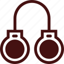 criminal, handcuffs, justice, law, locked, police, punishment icon