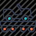 car, cart, military, rails, transport icon