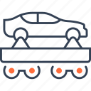 car, cart, military, rails, transport, truck icon
