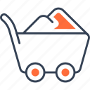 cart, load, military, of, sand, transport icon