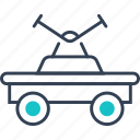 cart, military, rails, transport icon