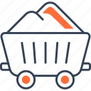 cargo, cart, military, sand, transport icon