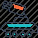 gun, military, tank, transport icon