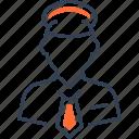 men, military, officer, transport icon