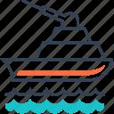 gun, military, ship, transport icon
