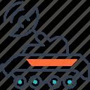military, satellite, tank, transport icon