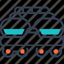 military, train, transport, wagoon icon