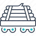 cart, military, transport, wood icon