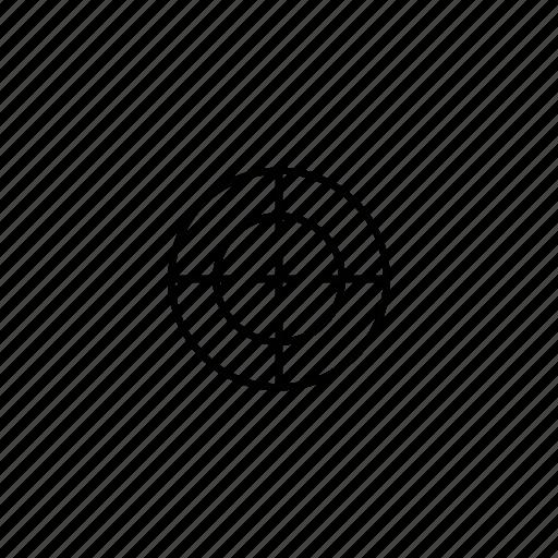 circle, cross, gun, hunting, sight, sniper, target icon