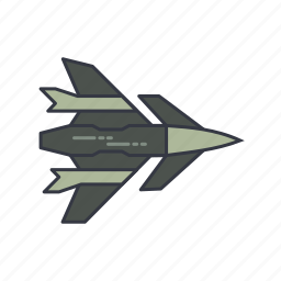 air, fight, fighter, force, jet, military, war icon