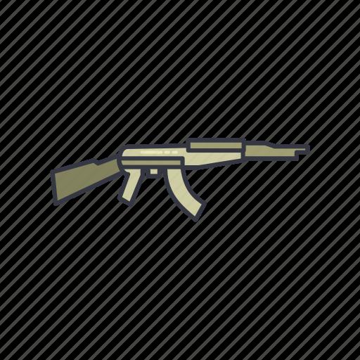 army, danger, gun, guns, machine, shot, war icon