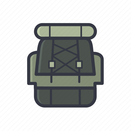 backpack, bag, carry, outdoor, travel, travelling, vacation icon