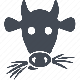cow, feed, hay, milk icon
