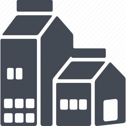 building, construction, milk, structure icon