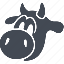animal, calf, calf's head, milk, pet icon