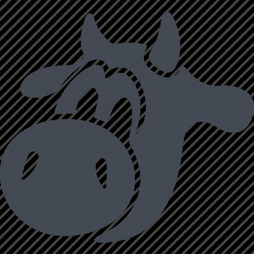 animal, calf, calf's head, milk, pet icon