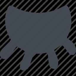 cow's udder, milk, milking icon